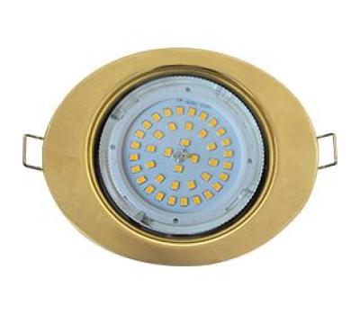 Ecola GX53 FT3238 светильник встр. без рефлектора Эллипс золото 41x126x106 Истра