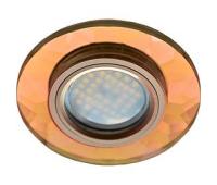 Ecola MR16 DL1654 GU5.3 Glass Стекло Круг граненый Янтарь / Черненая медь 25x90 Истра