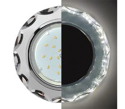Ecola GX53 H4 LD5313 Glass Стекло Круг с вогнутыми гранями с подсветкой  хром - хром (зеркальный) 38x126 (к+) Истра