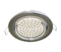 Ecola GX53 H4 светильник встраив. без рефл. chrome  38х106 - 2 pack Истра