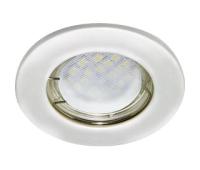 Ecola Light MR16 DL90 GU5.3 Светильник встр. плоский Перламутровое серебро 30x80 Истра