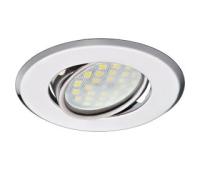 Светильник Ecola MR16 DH09 GU5.3 встр. поворотный плоский (скрытый крепеж лампы) Хром 25x90 Истра