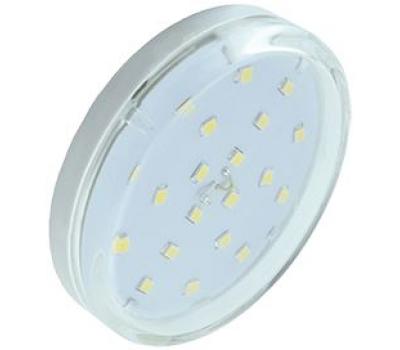 Ecola GX53   LED  6,0W Tablet 220V 4200K прозрачное стекло (композит) 27x75 Истра