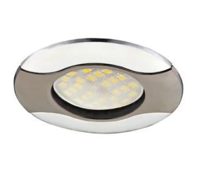 НОВИНКА!Светильник Ecola MR16 HL029 GU5.3 встр. литой Волна (скрытый крепёж лампы) Чёрный хром/Хром 22х82 Истра