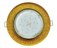 Ecola GX53 H4 Glass Стекло Круг  золото - золотой блеск 38x126 Истра