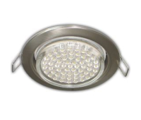 Ecola GX53 H4 Downlight without reflector_satin chrome (светильник) 38x106 - 10 pack Истра
