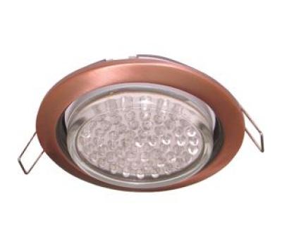 Ecola GX53 H4 светильник встраив. без рефл. чернёная медь 38х106 - 2 pack Истра