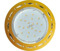 Ecola GX53 H4 DL5385  светильник встраив. без рефл. Точки-полоски по кругу матовое Золото/Алюм 20x110 (к+) Истра