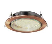 Встраиваемый потолочный точечный светильник-спот Экола GX70 H5 без рефлектора. Чернёная медь. Истра