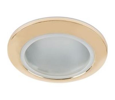 Ecola MR16 DL80 GU5.3 светильник встр. влагозащищенный IP65 золото 32x93 Истра