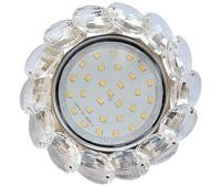 Ecola GX53 H4 Glass Круглый с большими хрусталиками Прозр. /Хром 56x125 Истра