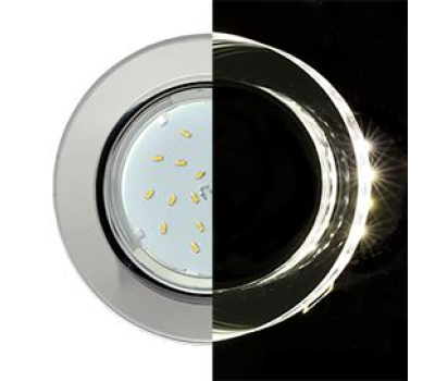 Ecola GX53 H4 LD5310 Glass Стекло Круг с подсветкой  хром - хром (зеркальный) 38x126 (к+) Истра