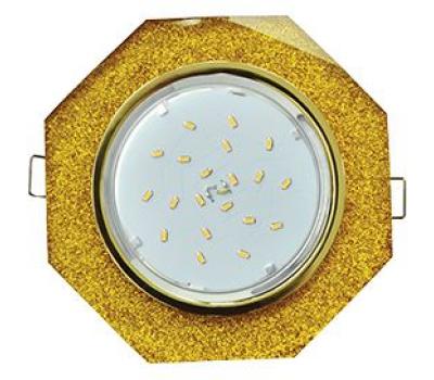 Ecola GX53 H4 Glass Стекло 8-угольник с прямыми гранями   золото - золотой блеск 38x133 Истра