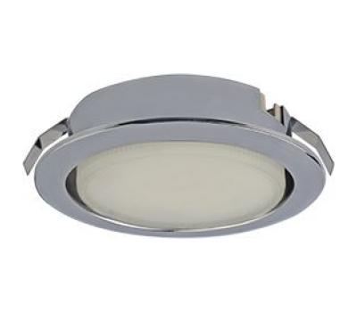 Ecola GX53 DL Светильник Встраиваемый (для твер. пов. и мебели) Хром  28х93 Истра