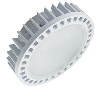Ecola GX53   LED Premium 15,0W Tablet 220V 2800K матовое стекло (фронтальный алюм. радиатор) 27x75 Истра