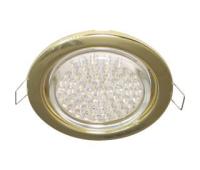 Ecola GX53 H4 светильник встраив. без рефл. gold  38х106 - 2 pack Истра