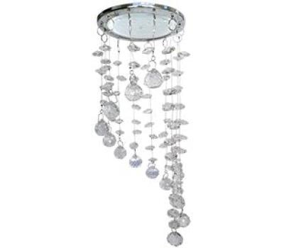 """Ecola GX53 H4 5354 Glass Круг """"Хрустальная нить"""" Прозрачный / Хром 330x105 (к+) Истра"""
