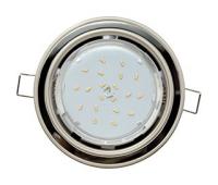 Ecola GX53 H4 светильник встраив. без рефл. 2 цв. жемчуг-черный хром-жемчуг 38х106 Истра