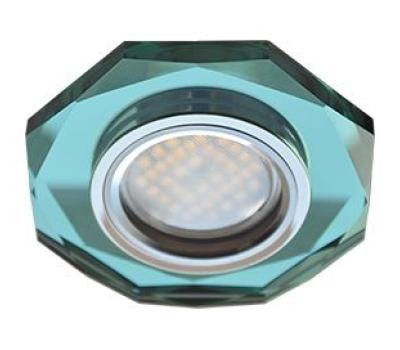 Ecola MR16 DL1652 GU5.3 Glass Стекло 8-угольник с прямыми гранями Изумруд / Хром 25x90 Истра