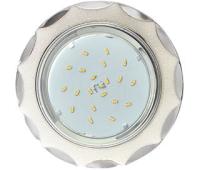 Ecola GX53 H4 DL3902 светильник встраив. без рефл.  Звезда под стеклом Белый блеск / хром 106х38 (к+) Истра