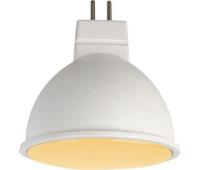 Ecola MR16   LED  7,0W  220V GU5.3 золотистая матовое стекло (композит) 48x50 Истра