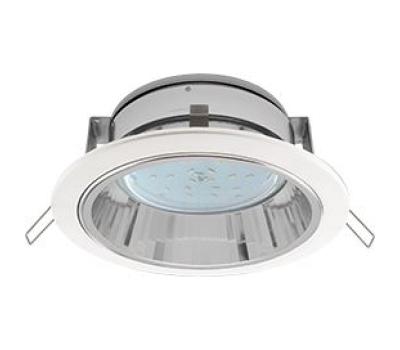 Встраиваемый потолочныйсветильник-спот Экола GX53 H2R.С рефлектором. Цвет - Белый. Истра