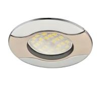 НОВИНКА!Светильник Ecola MR16 HL029 GU5.3 встр. литой Волна (скрытый крепёж лампы) Сатин-Хром/Хром 22х82 Истра
