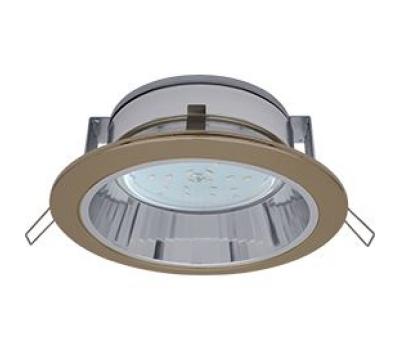Ecola GX53 H2R 220V GX53  Downlight светильник встраив. с рефлектором чернёная бронза 58*125 Истра
