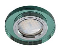 Ecola MR16 DL1650 GU5.3 Glass Стекло Круг Изумруд / Хром 25x95 Истра