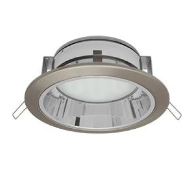 Встраиваемый потолочный точечный светильник-спот Экола GX70 H6Rс рефлектором. Сатин-Хром. Истра