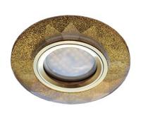 Ecola MR16 DL1654 GU5.3 Glass Стекло Круг граненый Золотой блеск / Золото 25x90 Истра