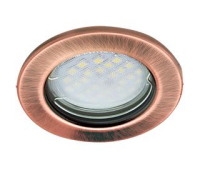 Светильник Ecola Light MR16 DL90 встраиваемый плоский Чернёная Медь 30x80 - 2 pack Истра
