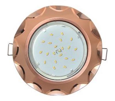 Ecola GX53 H4 Glass Стекло Круг с вогнутыми гранями черненая медь - янтарь 38x126 Истра
