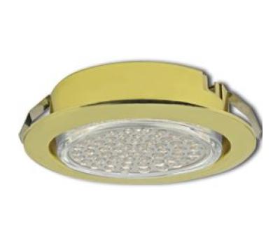 Ecola GX53 DL Светильник Встраиваемый (для тверд.пов. и мебели Золото 26х103 Истра