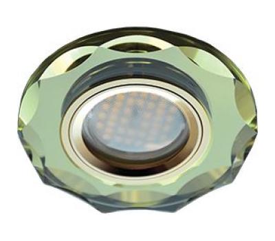 Ecola MR16 DL1653 GU5.3 Glass Стекло Круг с вогнутыми гранями Золото / Золото 25x90 Истра
