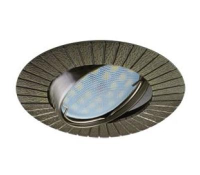 НОВИНКА!Светильник Ecola MR16 DL119 GU5.3 встр. литой поворотный Рифлёные лучи Чернёная Бронза 25х91 Истра