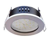 Ecola GX53 H9 защищенный IP65 светильник встраив.  без рефлектора белый 98*55 Истра