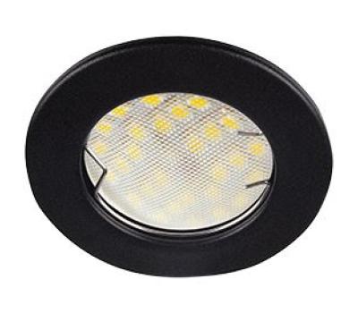 Ecola Light MR16 DL90 GU5.3 Светильник встр. плоский Черный матовый 30x80 (кd74) Истра