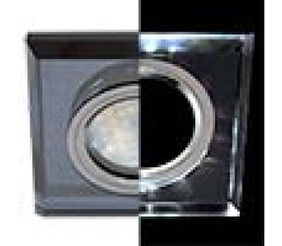 Ecola MR16 LD1651 GU5.3 Glass Стекло с подсветкой Квадрат скошенный край Черный / Черный хром 25x90x90 (кd74) Истра