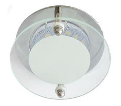 Ecola MR16 DL201 GU5.3 Glass Круг со стеклом Прозрачный и Матовый / Хром 45x80 Истра