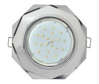 Ecola GX53 H4 Glass Стекло 8-угольник с прямыми гранями хром - хром (зеркальный) 38x133 Истра