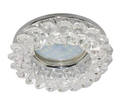 Светильник Ecola MR16 CD4141 GU5.3 встр.круглый с хрусталиками Прозрачный/Хром 50x90 Истра