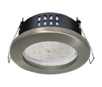 Ecola GX53 H9 защищенный IP65 светильник встраив.  без рефлектора сатин - хром  98*55 Истра