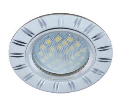 НОВИНКА!Светильник Ecola MR16 DL3184 GU5.3 встр. литой (скрытый крепёж лампы) Двойные реснички по кругу Матовый хром/Алюминий 23х78 Истра
