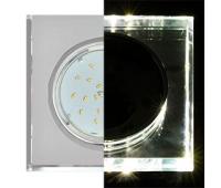 Ecola GX53 H4 LD5311 Glass Стекло Квадрат скошенный край с подсветкой  хром - хром (зеркальный) 38x120x120 (к+) Истра