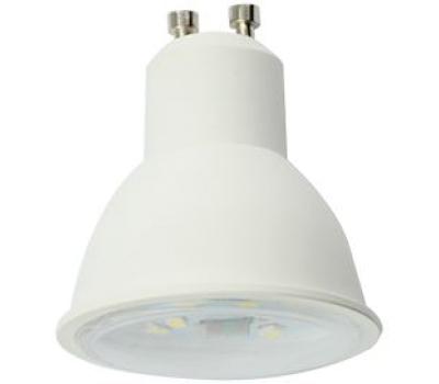 Ecola Reflector GU10  LED  8,0W  220V 2800K прозрачное стекло (композит) 57x50 Истра