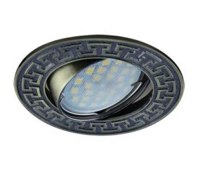 НОВИНКА!Светильник Ecola MR16 DL111 GU5.3 встр. литой поворотный Антик2 Чернёная Бронза 24х88 Истра