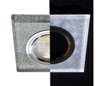 Ecola MR16 LD1651 GU5.3 Glass Стекло с подсветкой Квадрат скошенный край Серебряный блеск / Хром 25x90x90 (кd74) Истра