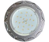 Ecola GX53 H4 DL5384  светильник встраив. без рефл. Звезда матовый Хром/Алюм 20x110 (к+) Истра
