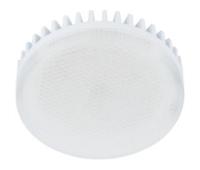 Лампа Еcola GX53   LED 10.0W Tablet 220V 4200K матовое стекло (ребристый алюм. радиатор) 27x75 Истра